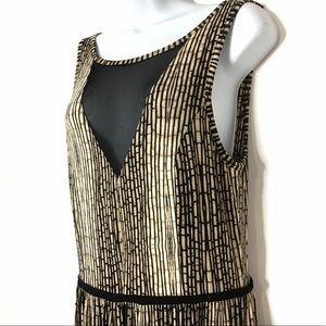 TART Bamboo Striped Maxi Dress Mesh Front